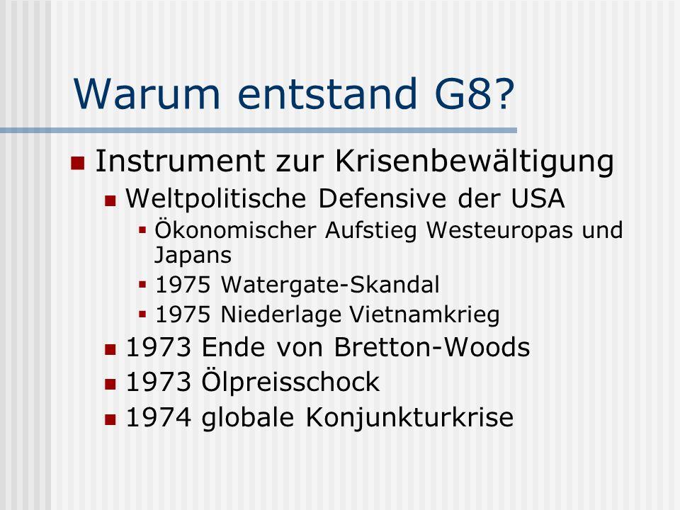 Wann entstand G8.