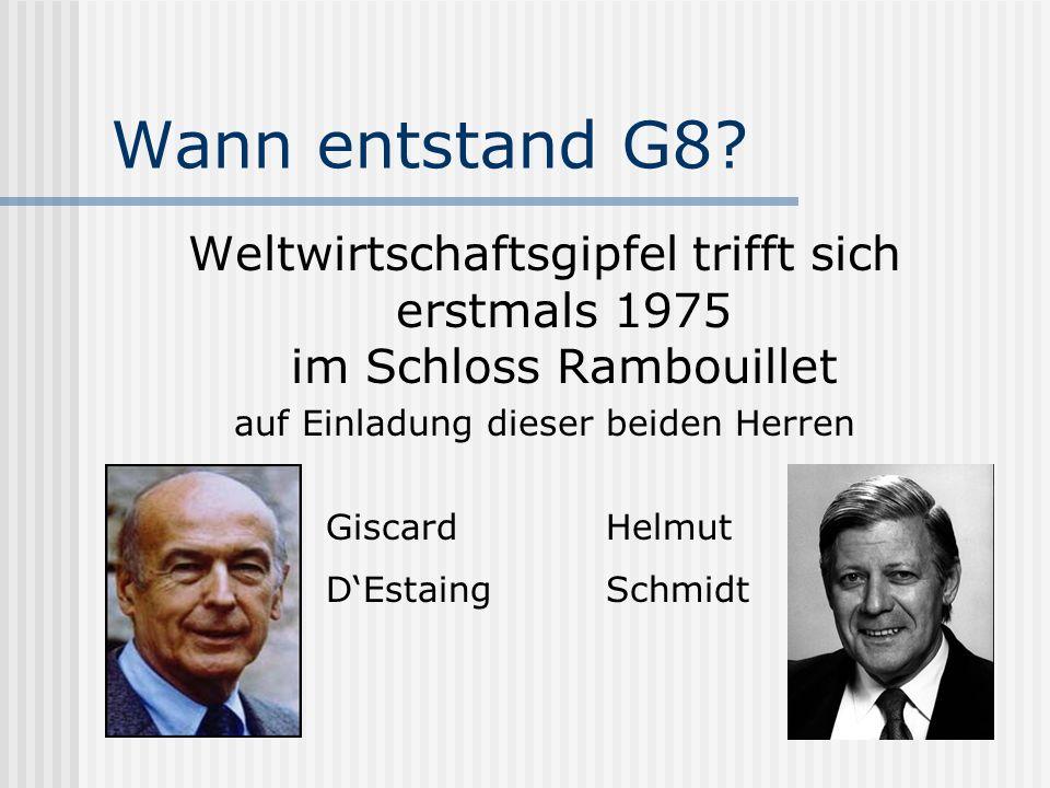 Die Struktur der G8 Club der Reichen und Mächtigen Informell Elitär Exklusiv Undemokratisch...