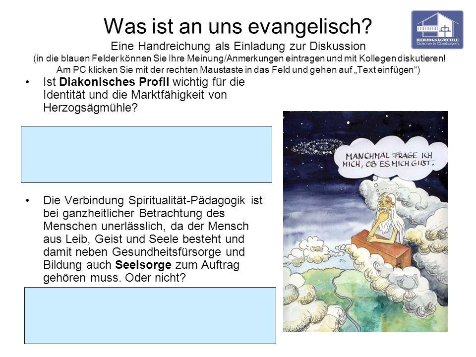 Was ist an uns evangelisch? Eine Handreichung als Einladung zur Diskussion (in die blauen Felder können Sie Ihre Meinung/Anmerkungen eintragen und mit