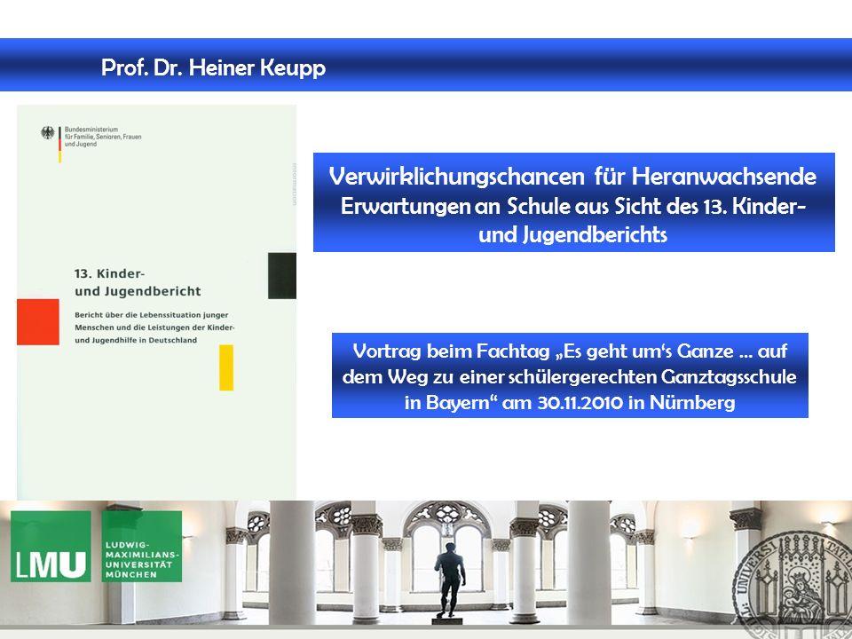 Professor Heiner Keupp Berichtskommission für den 13.