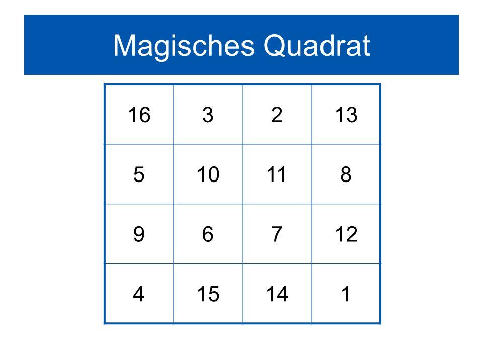 Magisches Quadrat 163213 510118 96712 415141