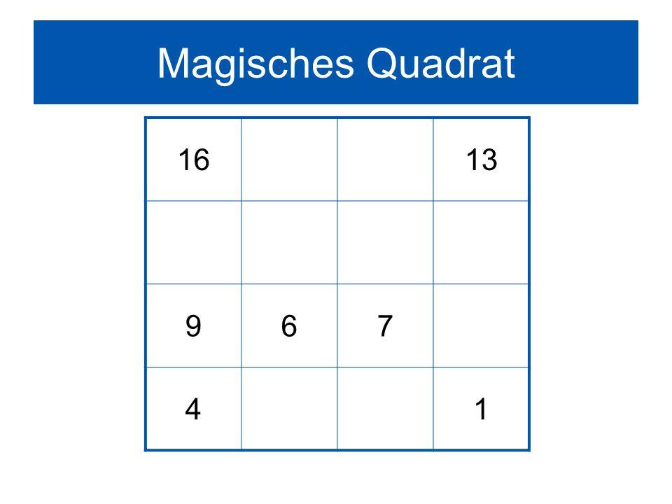 Magisches Quadrat 1613 967 41