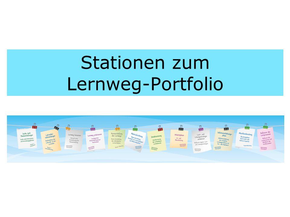 Stationen zum Lernweg-Portfolio