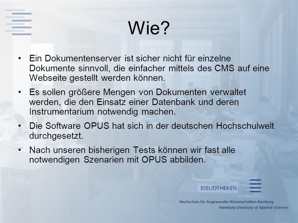 Wie? Ein Dokumentenserver ist sicher nicht für einzelne Dokumente sinnvoll, die einfacher mittels des CMS auf eine Webseite gestellt werden können. Es