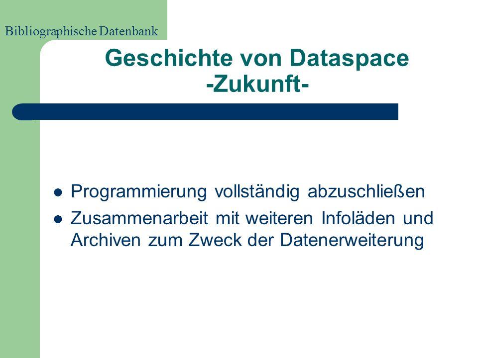 Geschichte von Dataspace -Heute- Verzeichnet sind alle Bestände des Infoladens Leipzig sowie Teilbestände anderer Infoläden und Archive Teile des Zeit