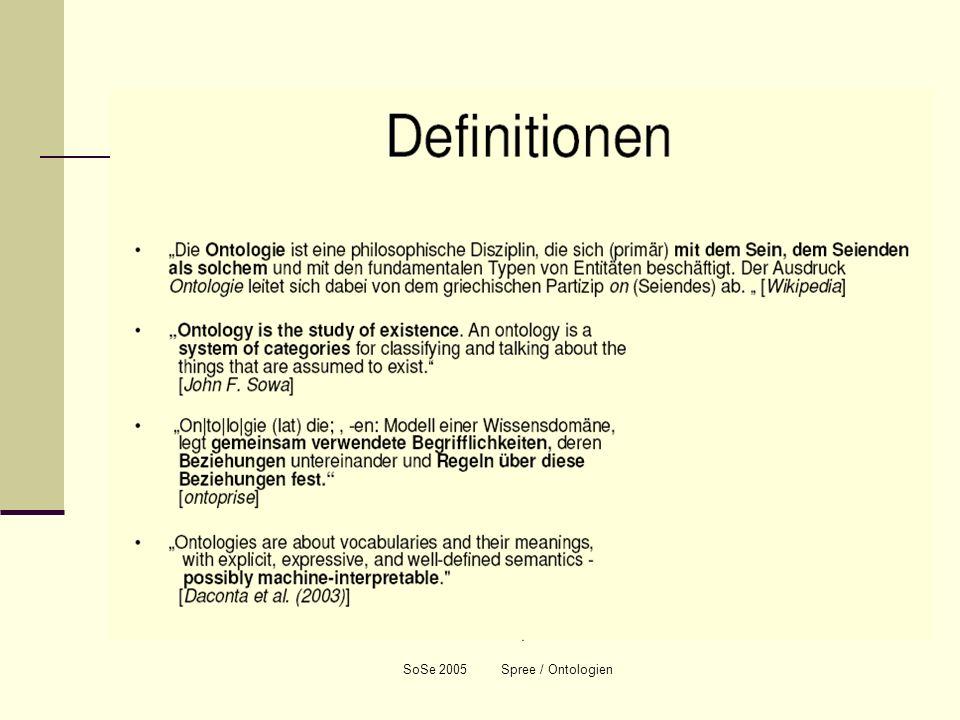 Weitere Beispiele für Fundamentalkategorien Ähnliche Kategorien sind in verschiedenen Bereichen der Information und Wissensorganisation zu finden, z.B.: die 5 Ws im Journalismus: wer, was, wo, wann, wie die Kategorien in den Regeln für die Schlagwortkatalogisierung (RSWK): Personen-/Körperschaftsschlagwort Sachschlagwort Geographisches Schlagwort Zeitschlagwort Formschlagwort die Klassen der obersten Hierarchie in modernen Begriffssystemen (Ontologien): Actors Temporal Entites Places Physical Stuff Conceptual Objects