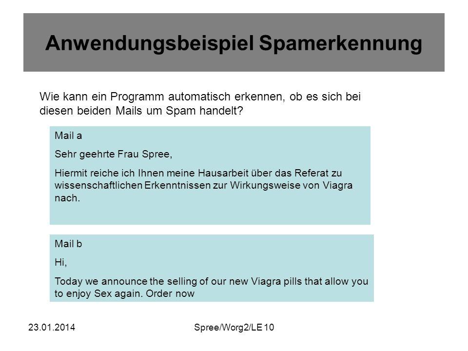 23.01.2014Spree/Worg2/LE 10 Zwei Verfahren 1.
