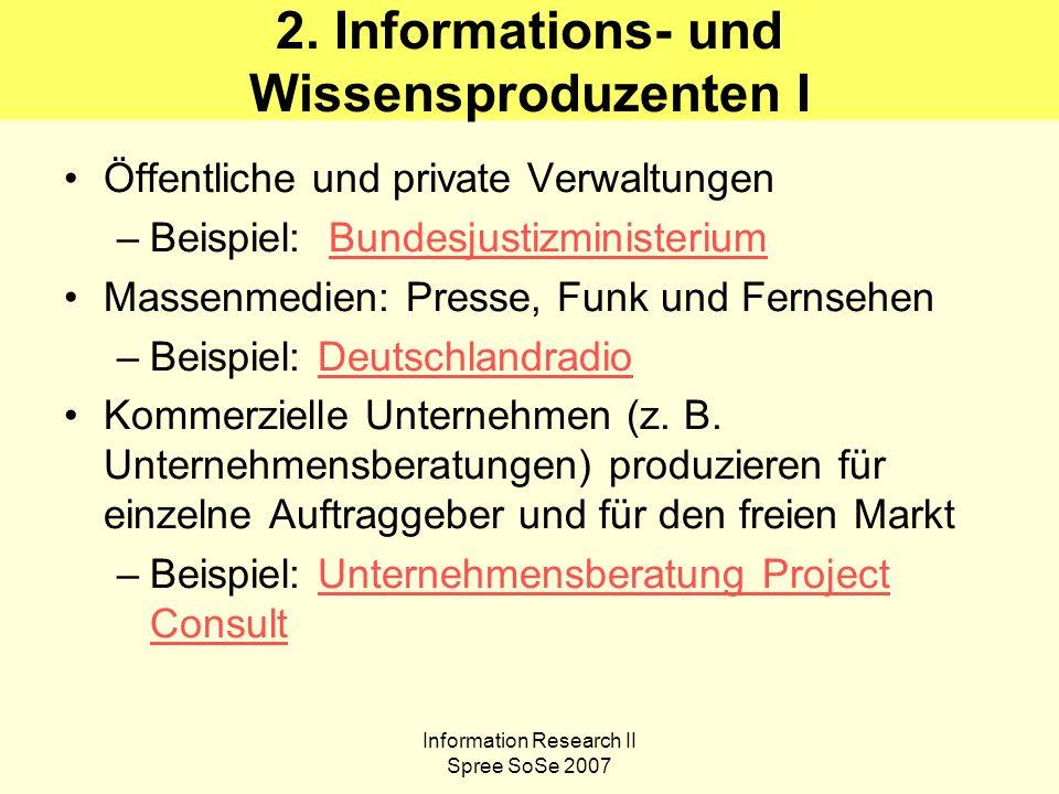 Information Research II Spree SoSe 2007 7.