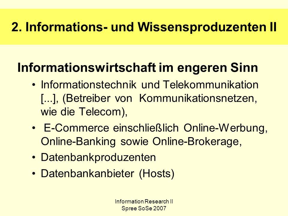 Information Research II Spree SoSe 2007 3.