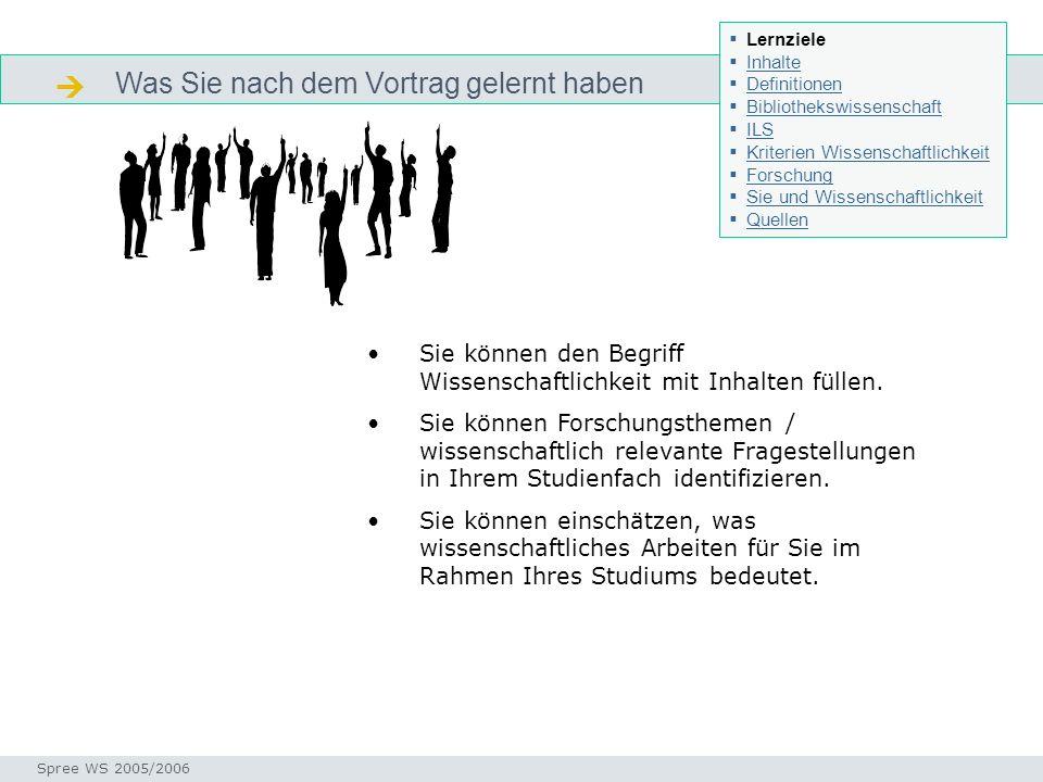 Was Sie nach dem Vortrag gelernt haben Lernziel Seminar I-Prax: Inhaltserschließung visueller Medien, 5.10.2004 Spree WS 2005/2006 Lernziele Inhalte D