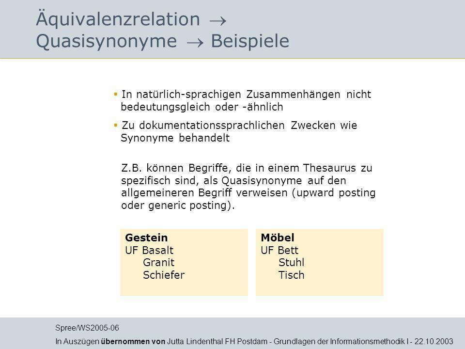 Jutta Lindenthal Äquivalenzrelation Quasisynonyme Beispiele In natürlich-sprachigen Zusammenhängen nicht bedeutungsgleich oder -ähnlich Zu dokumentati