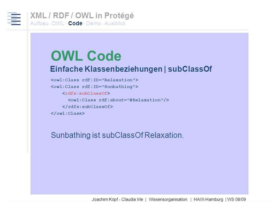 Joachim Köpf - Claudia Irle | Wissensorganisation | HAW-Hamburg | WS 08/09 <equivalentClass rdf:resource=
