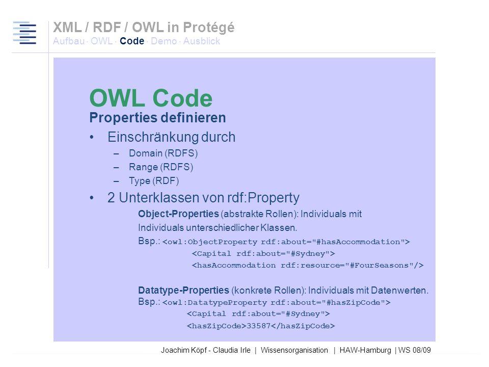 Joachim Köpf - Claudia Irle | Wissensorganisation | HAW-Hamburg | WS 08/09 <rdfs:subClassOf rdf:resource=