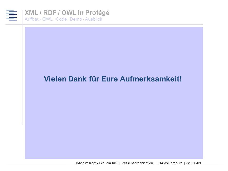 Joachim Köpf - Claudia Irle | Wissensorganisation | HAW-Hamburg | WS 08/09 Dient aktuell nur zur Repräsentation von Wissen Erfüllt noch keine alltägli