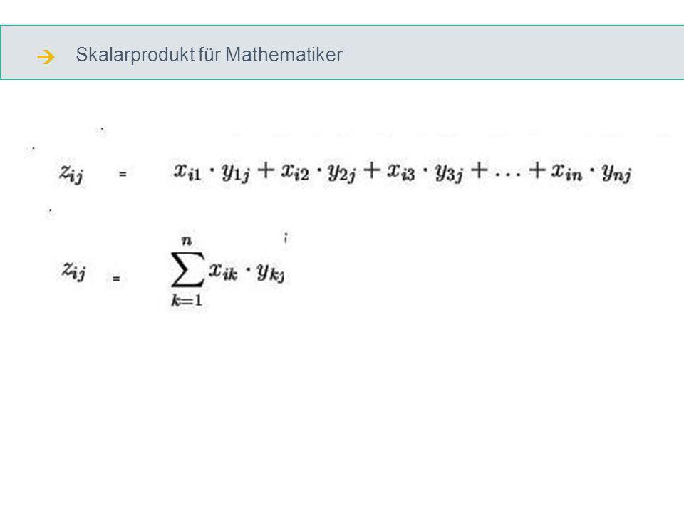 Skalarprodukt für Mathematiker