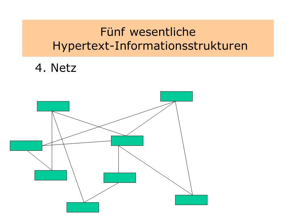 Fünf wesentliche Hypertext-Informationsstrukturen 4. Netz