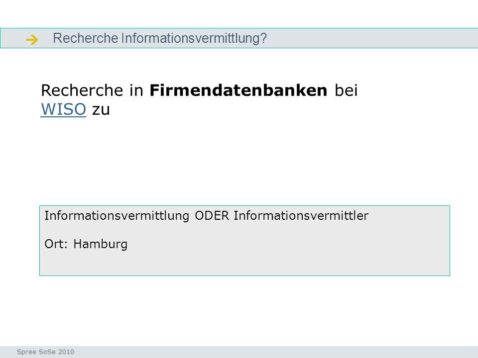 Recherche Informationsvermittlung.