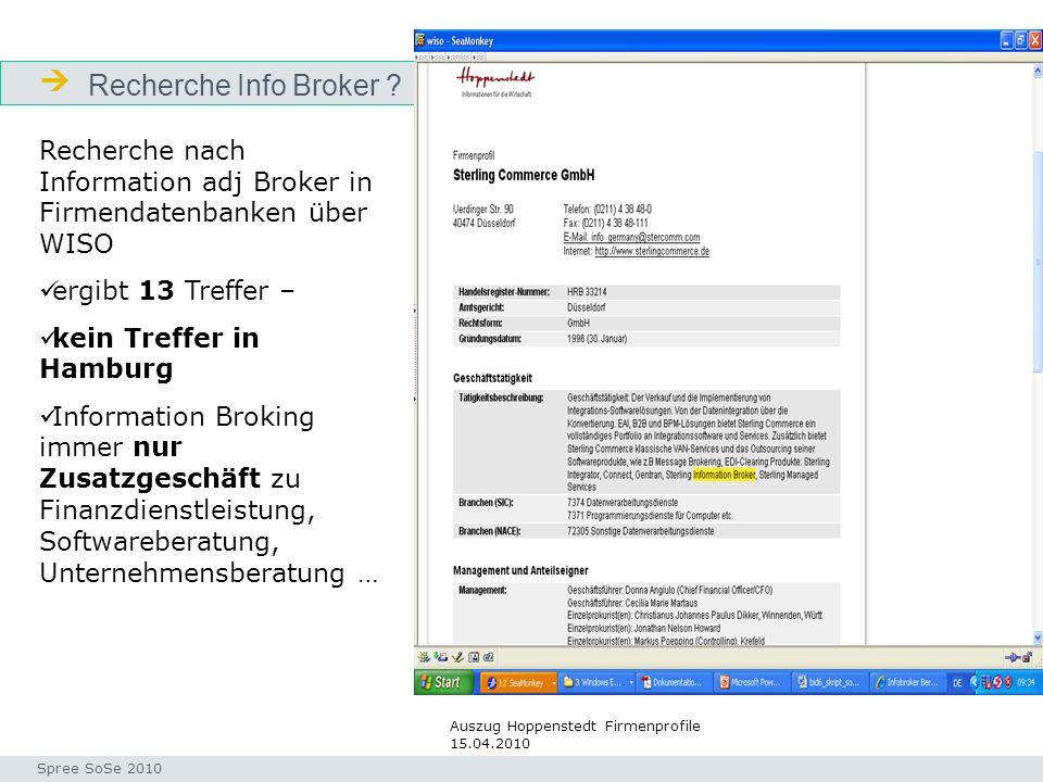 Recherche Info Broker .