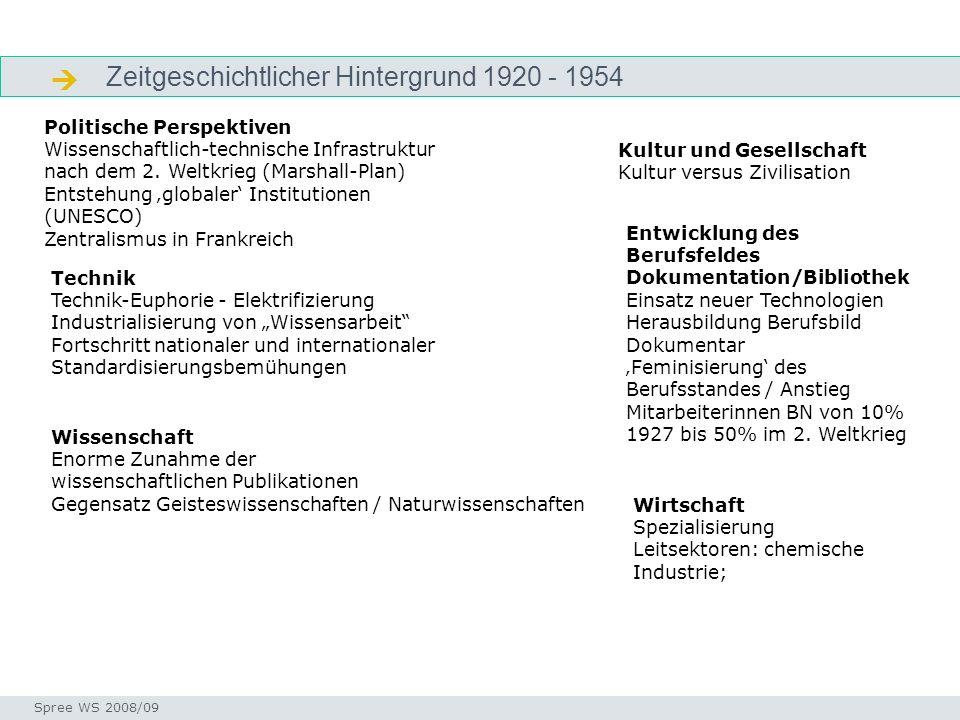 Zeitgeschichtlicher Hintergrund 1920 - 1954 Zeitgeschichtlicher Hintergrund Seminar I-Prax: Inhaltserschließung visueller Medien, 5.10.2004 Spree WS 2