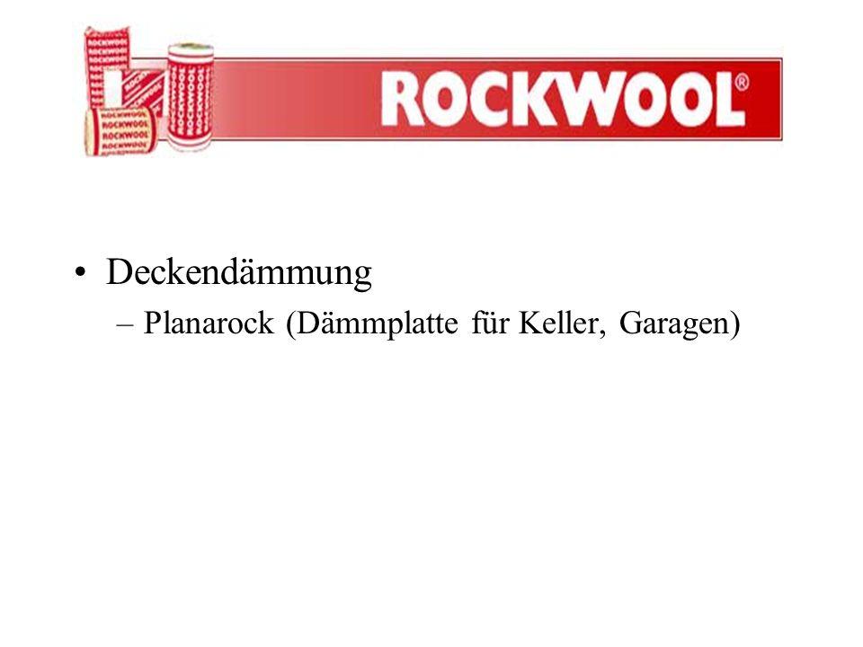 Deckendämmung –Planarock (Dämmplatte für Keller, Garagen)