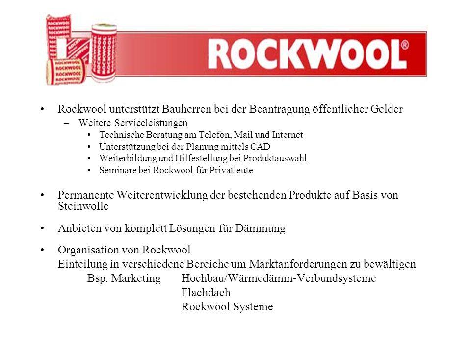 Rockwool unterstützt Bauherren bei der Beantragung öffentlicher Gelder –Weitere Serviceleistungen Technische Beratung am Telefon, Mail und Internet Un