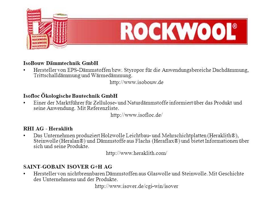 IsoBouw Dämmtechnik GmbH Hersteller von EPS-Dämmstoffen bzw. Styropor für die Anwendungsbereiche Dachdämmung, Trittschalldämmung und Wärmedämmung. htt