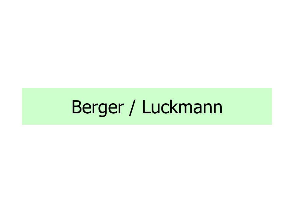 Berger / Luckmann