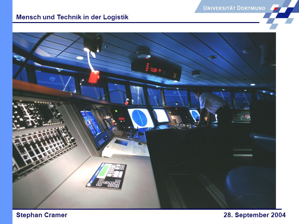 Stephan Cramer 28. September 2004 Mensch und Technik in der Logistik 8.