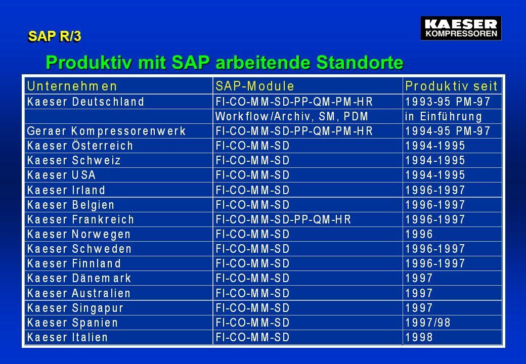 Folien Nr. 11Falko Lameter SAP R/3 Produktiv mit SAP arbeitende Standorte