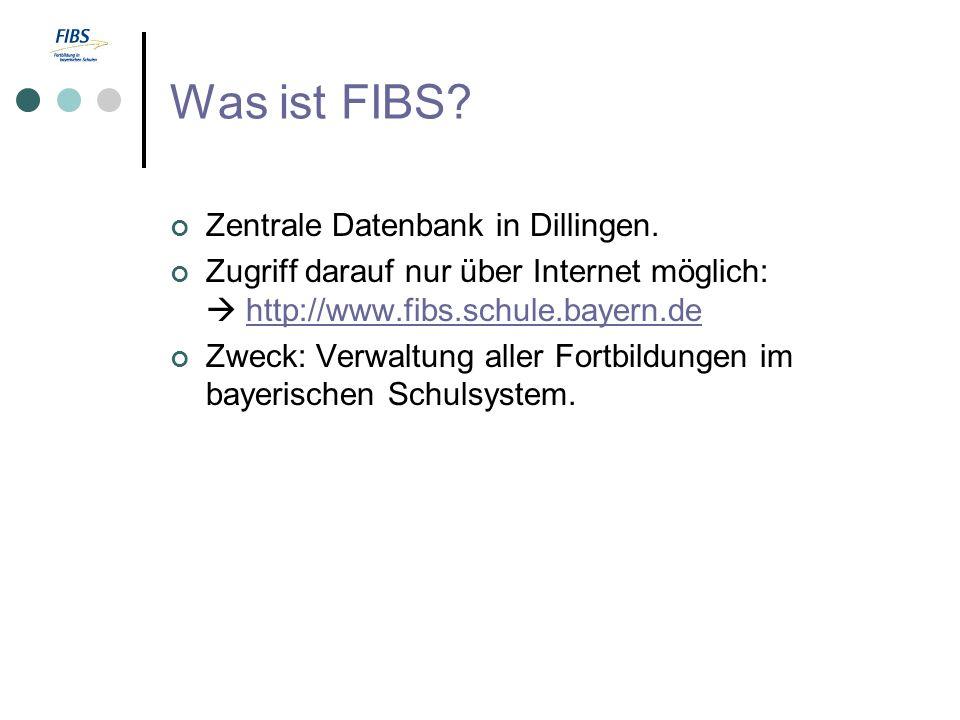 Was ist FIBS. Zentrale Datenbank in Dillingen.