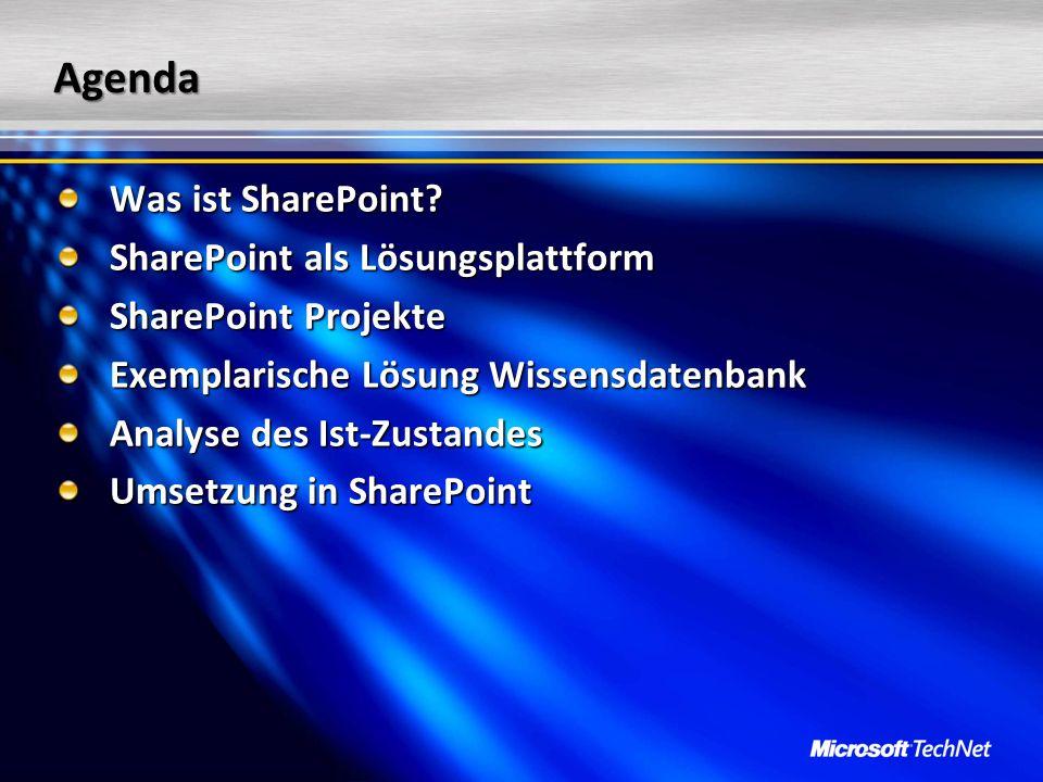 Anforderung Jesse Mariam SharePoint Projekt Team Zuständig für die Informationsbeschaffung Unser Team, das über die Einführung von SharePoint in unserem Unternehmen entscheidet, hat eine Vielzahl von Informationen zu SharePoint zusammengetragen, allerdings völlig unkoordiniert.