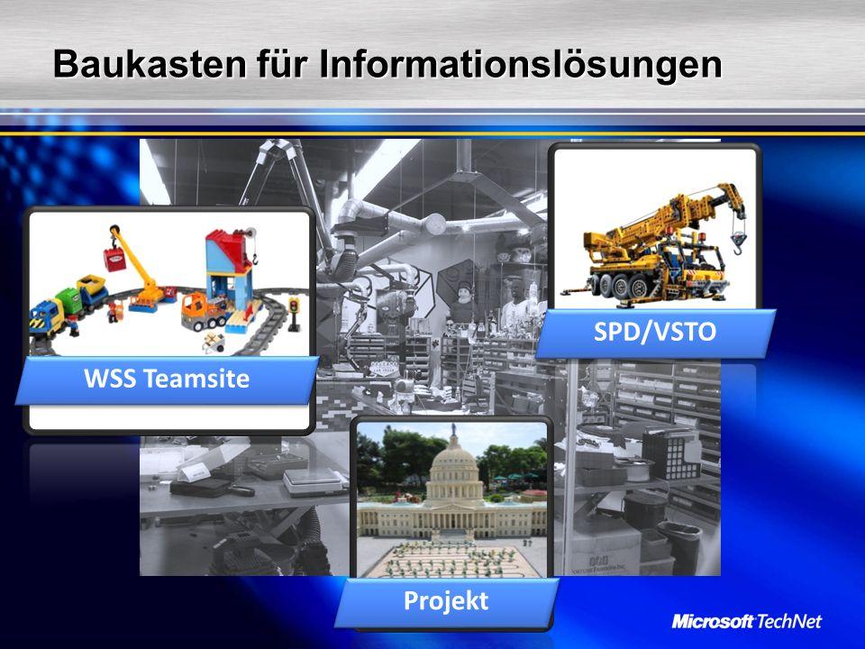 Baukasten für Informationslösungen WSS Teamsite SPD/VSTO Projekt