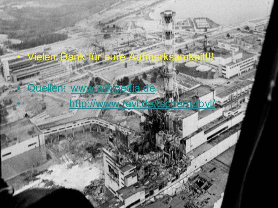 Vielen Dank für eure Aufmerksamkeit!!! Quellen: www.wikipedia.dewww.wikipedia.de http://www.reyl.de/tschernobyl/