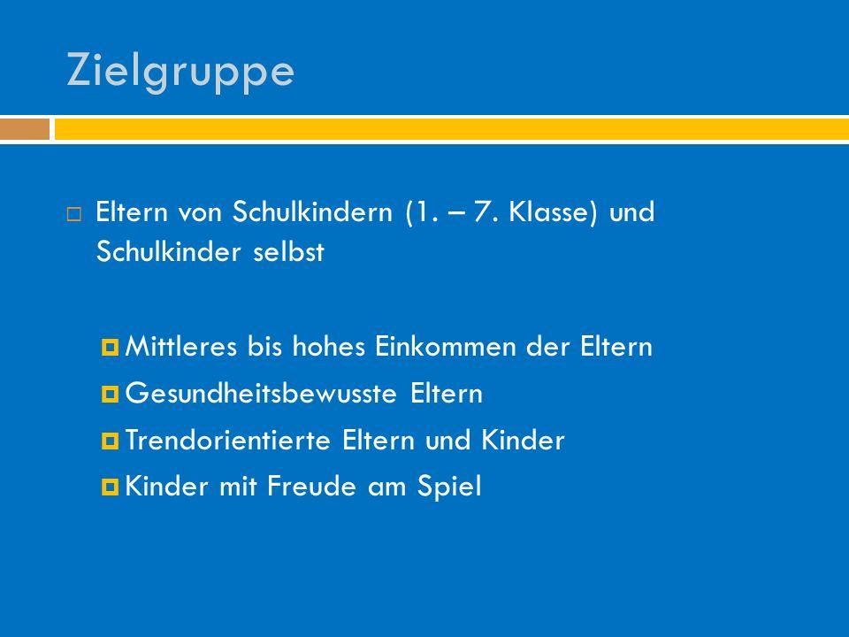 Zielgruppe Eltern von Schulkindern (1. – 7.