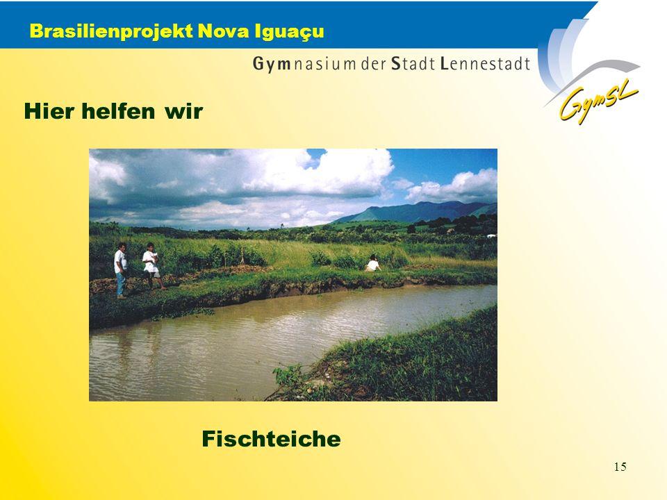 Brasilienprojekt Nova Iguaçu 15 Hier helfen wir Fischteiche