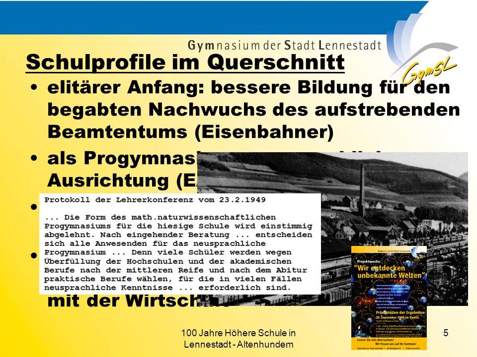 100 Jahre Höhere Schule in Lennestadt - Altenhundem 5 elitärer Anfang: bessere Bildung für den begabten Nachwuchs des aufstrebenden Beamtentums (Eisen