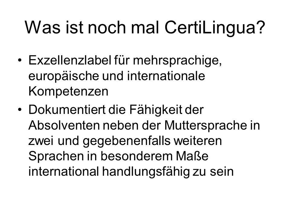 Was ist noch mal CertiLingua.