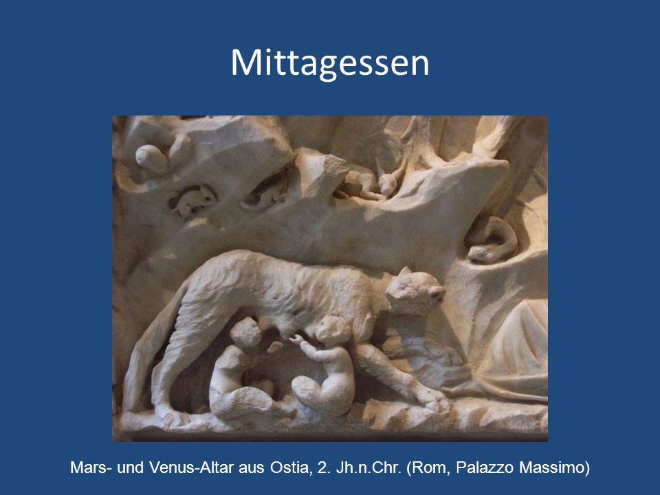 Mittagessen Mars- und Venus-Altar aus Ostia, 2. Jh.n.Chr. (Rom, Palazzo Massimo)