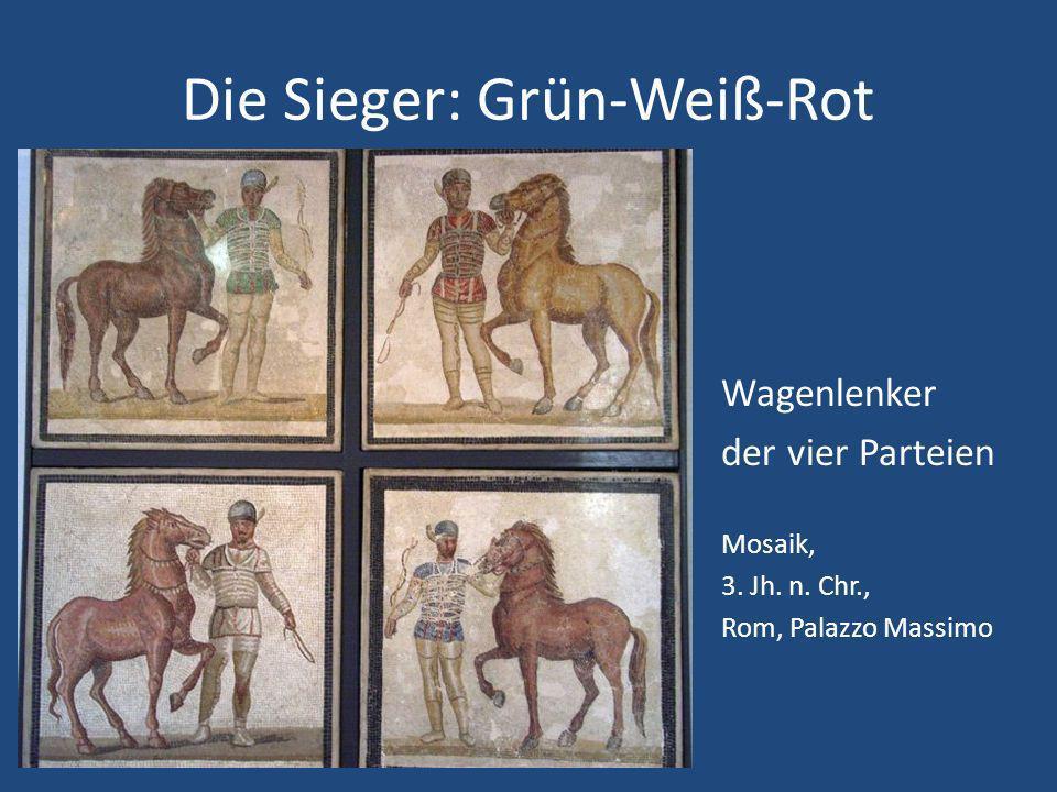 Die Sieger: Grün-Weiß-Rot Wagenlenker der vier Parteien Mosaik, 3.