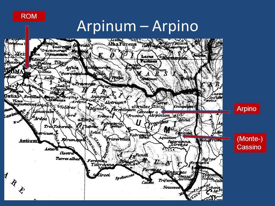 Arpinum – Arpino ROM Arpino (Monte-) Cassino