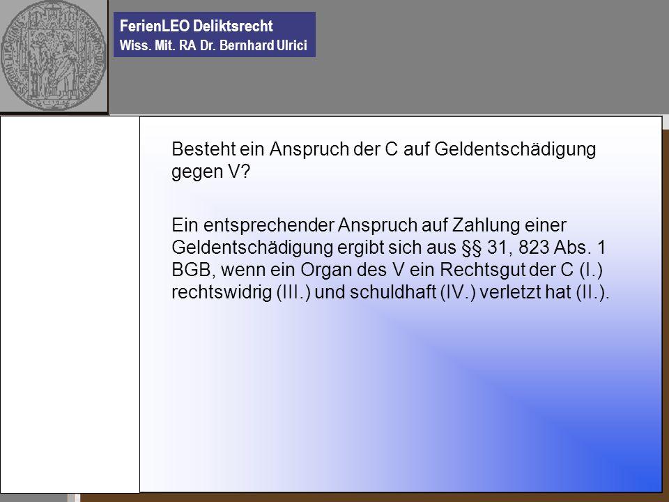 FerienLEO Deliktsrecht Wiss.Mit. RA Dr.