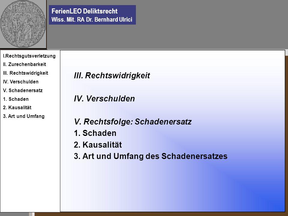 FerienLEO Deliktsrecht Wiss.Mit. RA Dr. Bernhard Ulrici V.