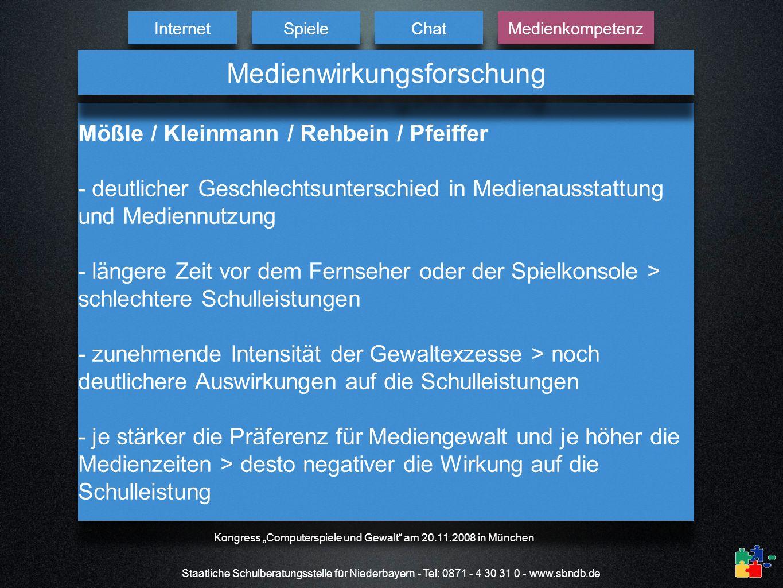 Staatliche Schulberatungsstelle für Niederbayern - Tel: 0871 - 4 30 31 0 - www.sbndb.de Mößle / Kleinmann / Rehbein / Pfeiffer - deutlicher Geschlecht
