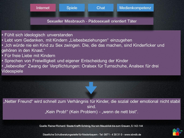 Staatliche Schulberatungsstelle für Niederbayern - Tel: 0871 - 4 30 31 0 - www.sbndb.de Fühlt sich ideologisch unverstanden Lebt vom Gedanken, mit Kin