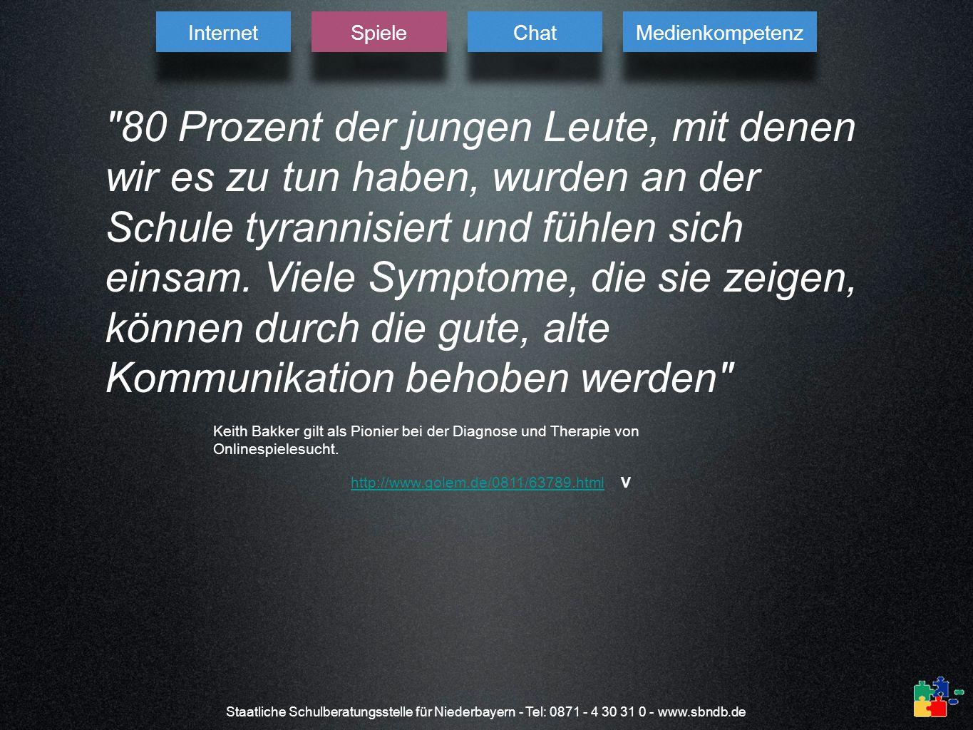 Staatliche Schulberatungsstelle für Niederbayern - Tel: 0871 - 4 30 31 0 - www.sbndb.de