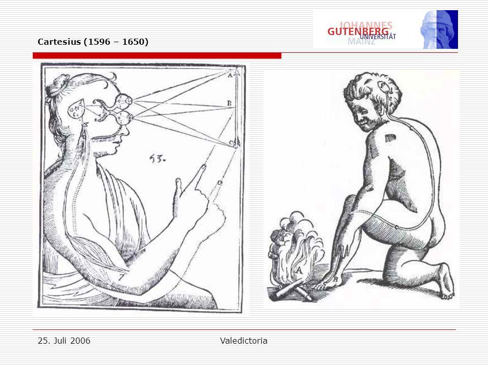 25. Juli 2006Valedictoria Cartesius (1596 – 1650)