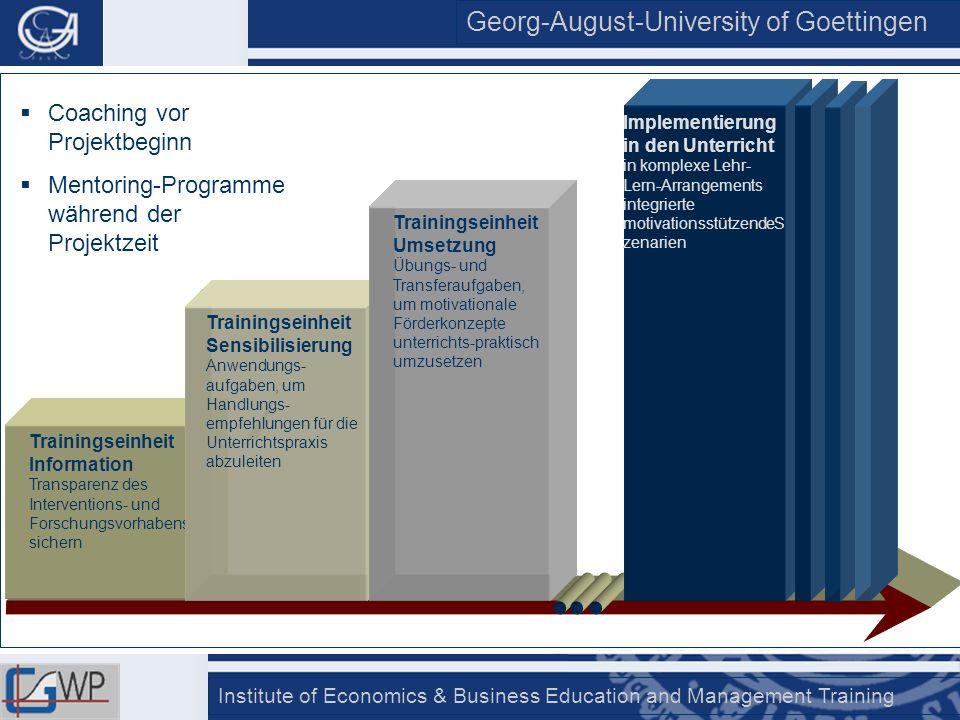 Georg-August-University of Goettingen Institute of Economics & Business Education and Management Training Trainingseinheit Information Transparenz des