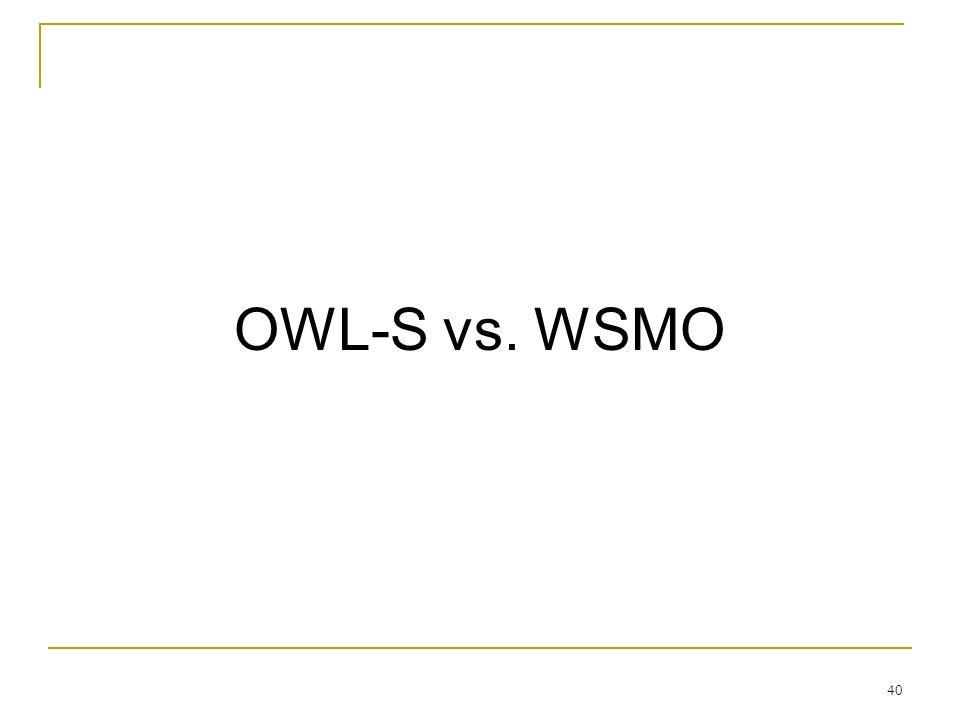 40 OWL-S vs. WSMO