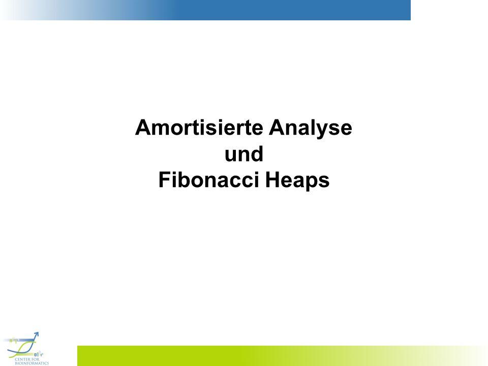 22 Fibonacci-Heaps Def.: Ein Fibonacci-Heap ist eine Datenstruktur, die einen Wald von Bäumen mit Heapeigenschaft besitzt.