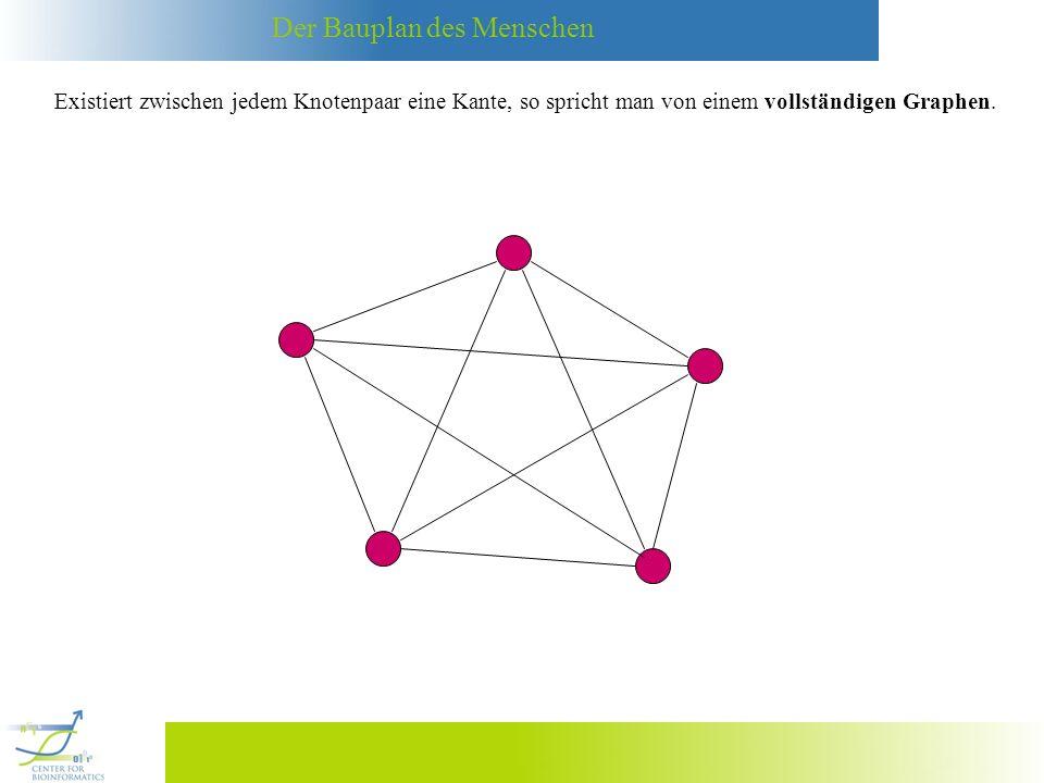 Der Bauplan des Menschen Der Schweitzer Mathematiker Leonard Euler hat sich 1736 mit der folgenden Fragestellung, dem sogenannten Königsberger-Brückenproblem, beschäftigt: A B CDPregel Ist es möglich, von irgendeinem Punkt in der Stadt loszulaufen und zu diesem Punkt wieder zurückzukehren und dabei genau einmal über jede der sieben Brücken zu wandern.